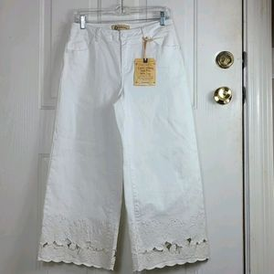 Democracy  High Rise Wide Crop Pants NWT